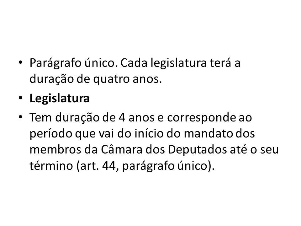 Sessão legislativa ordinária É o período anual em que deve estar reunido o Congresso Nacional para os trabalhos legislativos.