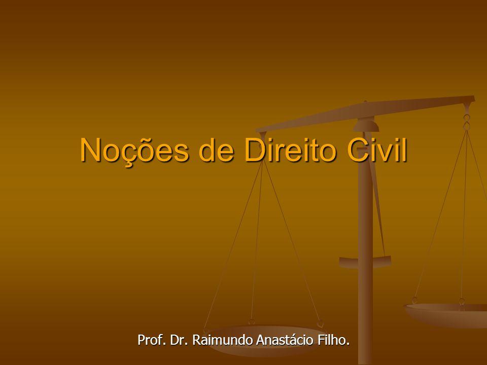 Noções de Direito Civil Prof. Dr. Raimundo Anastácio Filho.