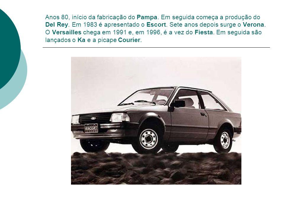 Anos 80, início da fabricação do Pampa. Em seguida começa a produção do Del Rey. Em 1983 é apresentado o Escort. Sete anos depois surge o Verona. O Ve