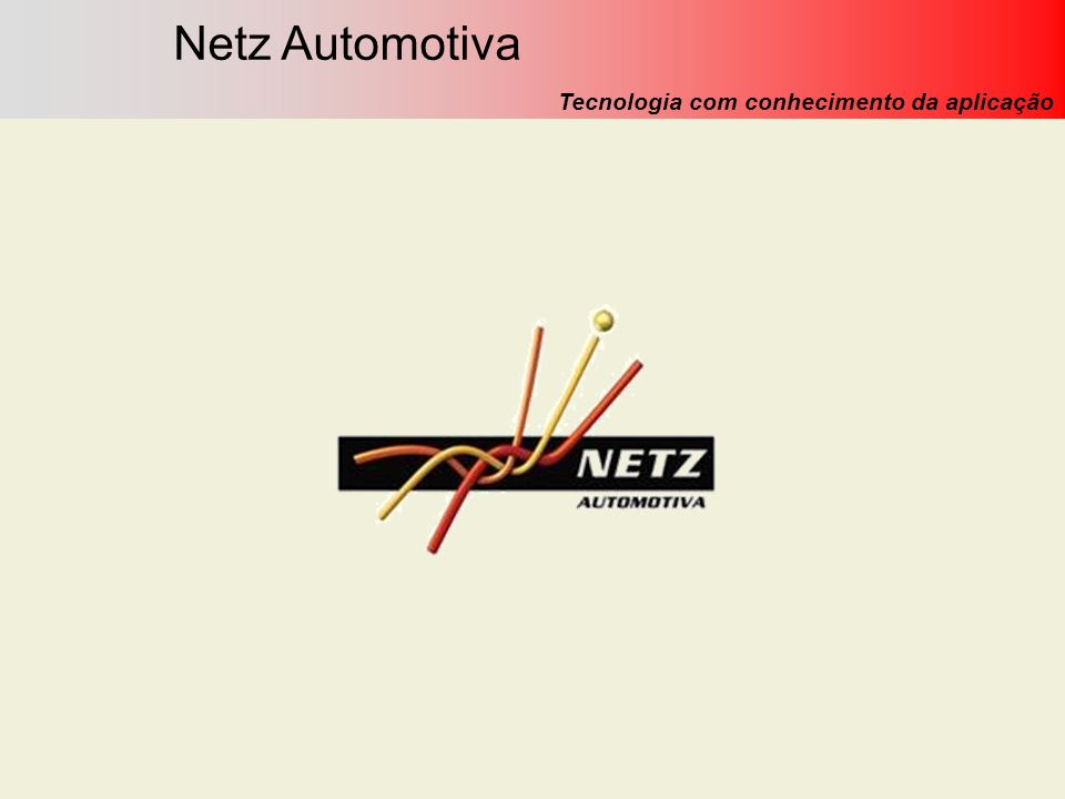 Netz Engenharia Automotiva Ltda. (Novembro/09) Netz Automotiva Tecnologia com conhecimento da aplicação
