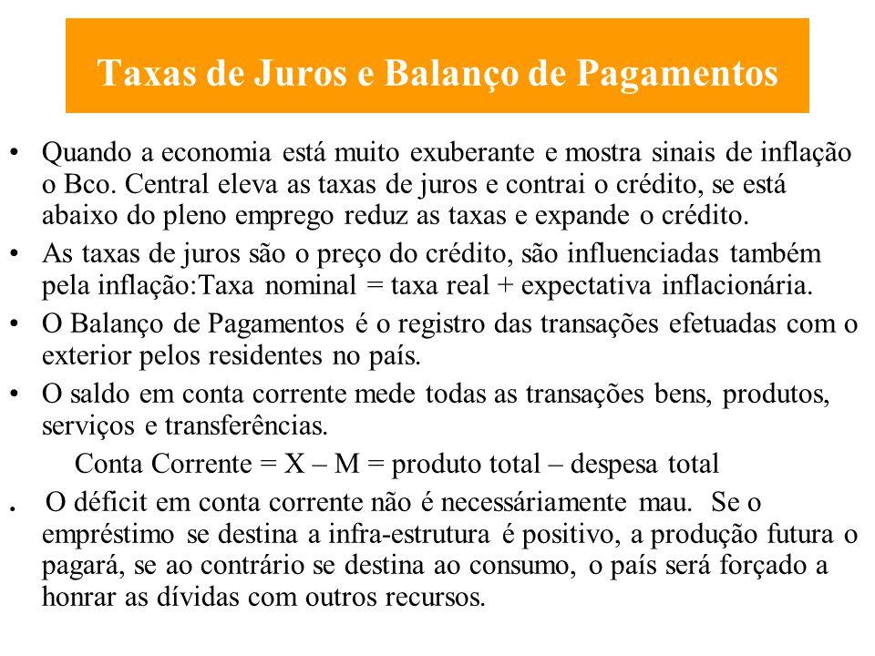 Política Fiscal e Monetária A Política Fiscal se refere ao uso das despesas e da tributação do governo para influenciar o nível de demanda agregada, a