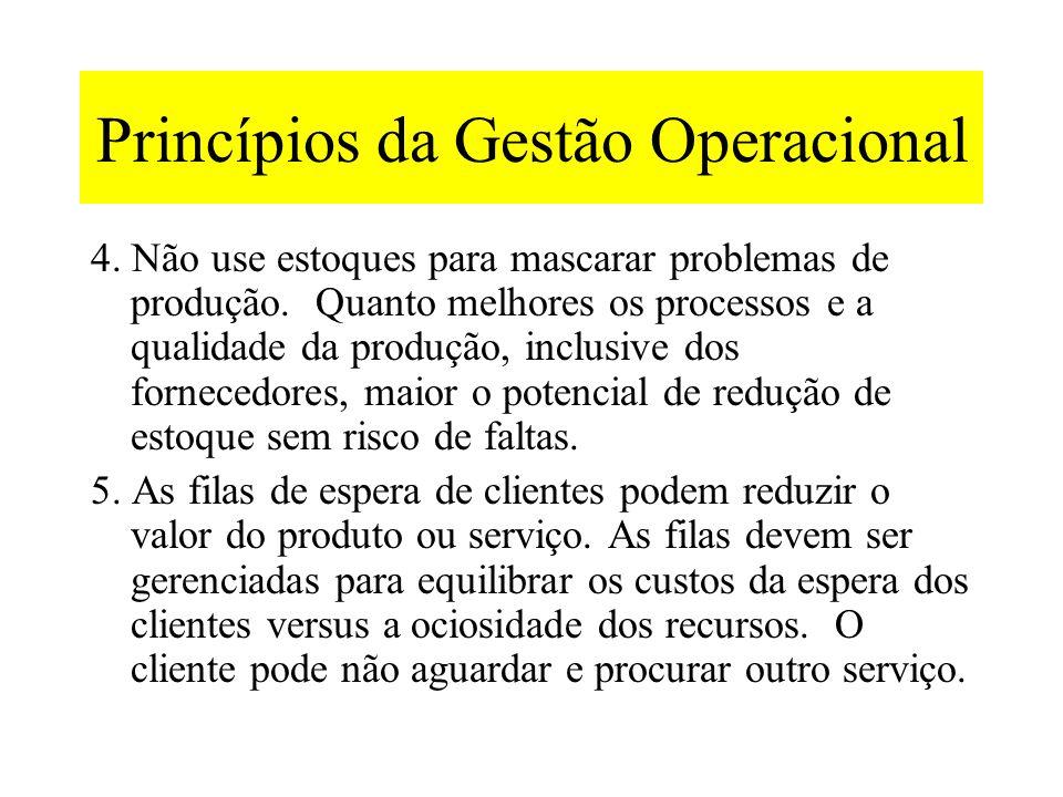 Princípios da Gestão Operacional 2. A capacidade também depende da configuração dos processos e do tipo de produto: os fluxos de linha conectados segu