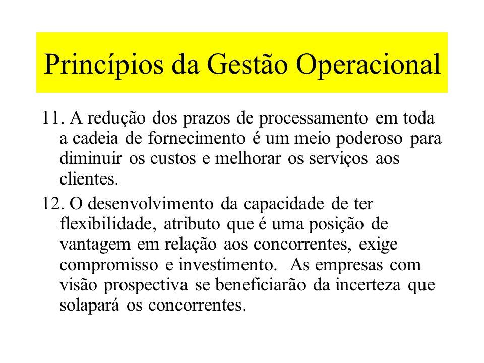 Princípios da Gestão Operacional 8.A qualidade exige compromisso e comunicação clara em toda a empresa. Tudo que é mensurado e recompensado melhorará.