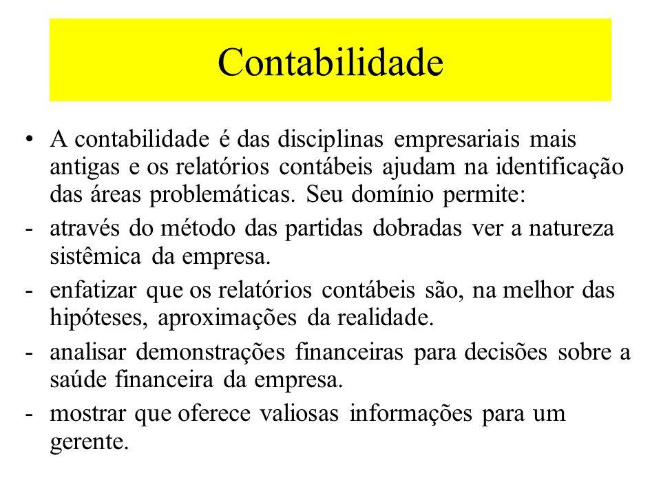 Contabilidade O domínio dos fundamentos da contabilidade é absolutamente essencial para o êxito do gerente moderno.