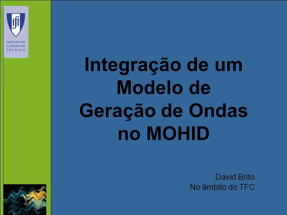 Integração de um Modelo de Geração de Ondas no MOHID David Brito No âmbito do TFC