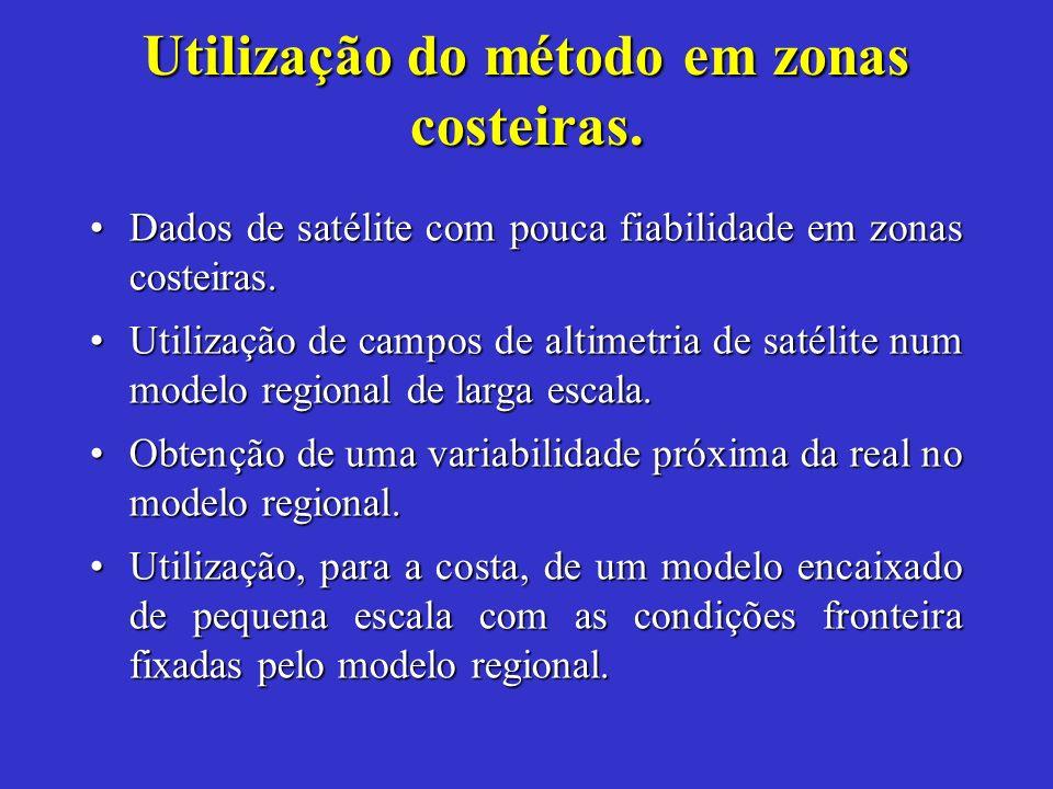 Utilização do método em zonas costeiras. Dados de satélite com pouca fiabilidade em zonas costeiras.Dados de satélite com pouca fiabilidade em zonas c