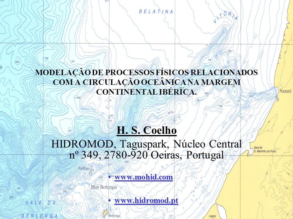 MODELAÇÃO DE PROCESSOS FÍSICOS RELACIONADOS COM A CIRCULAÇÃO OCEÂNICA NA MARGEM CONTINENTAL IBÉRICA. H. S. Coelho HIDROMOD, Taguspark, Núcleo Central