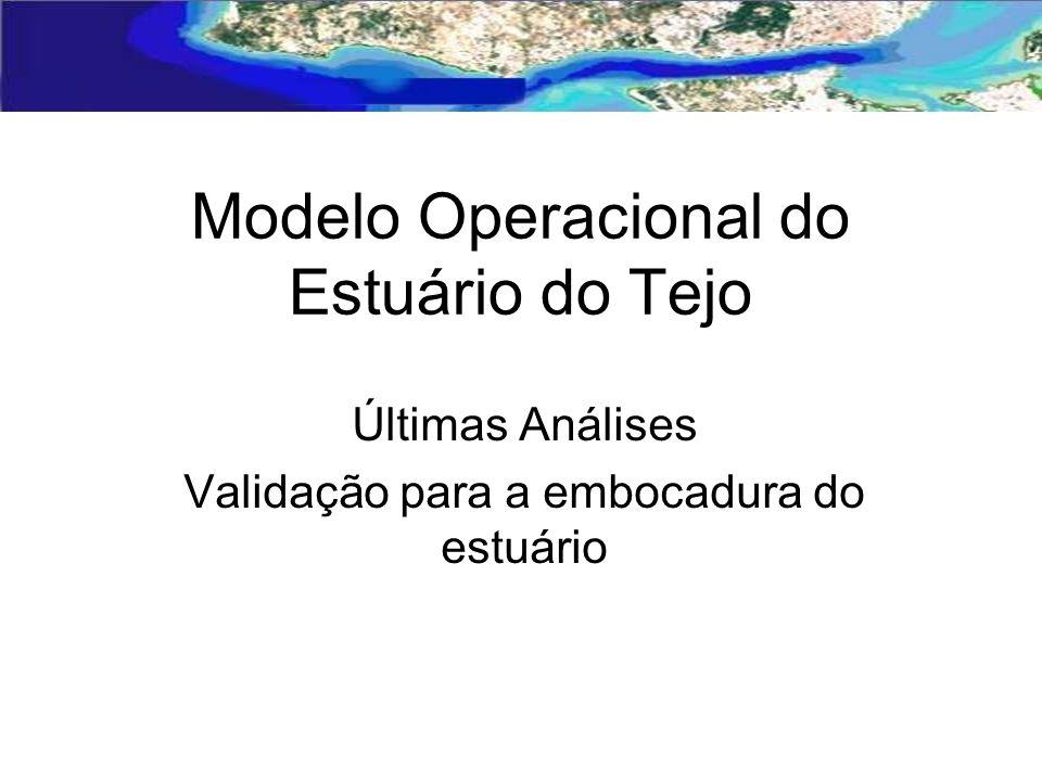 Modelo Operacional do Estuário do Tejo Últimas Análises Validação para a embocadura do estuário