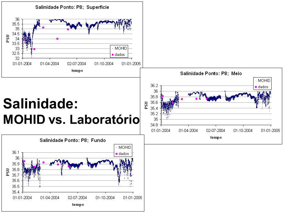 Salinidade: MOHID vs. Laboratório