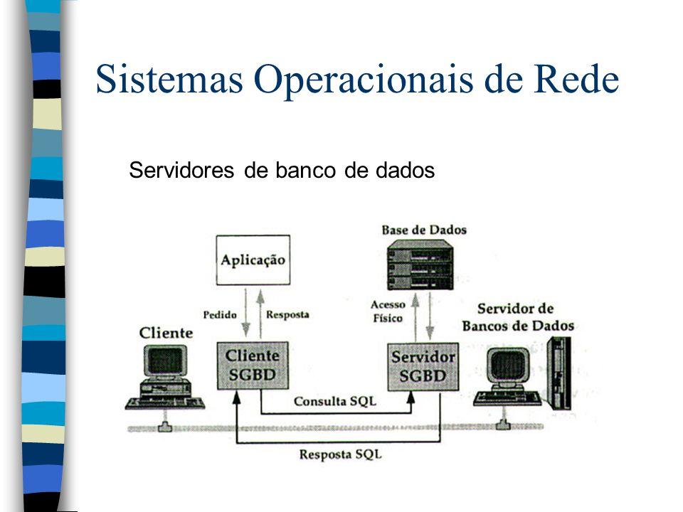 Servidores de banco de dados Sistemas Operacionais de Rede