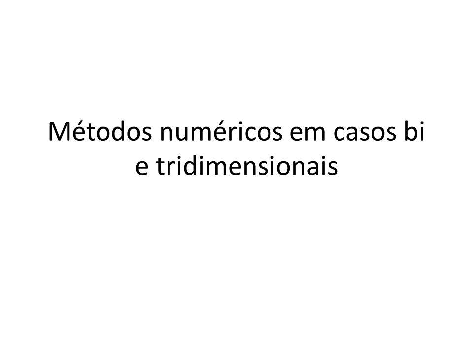 Métodos numéricos em casos bi e tridimensionais