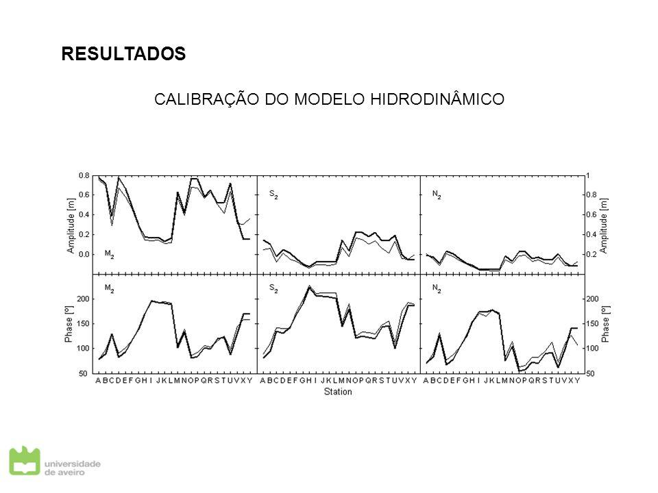RESULTADOS CALIBRAÇÃO DO MODELO HIDRODINÂMICO