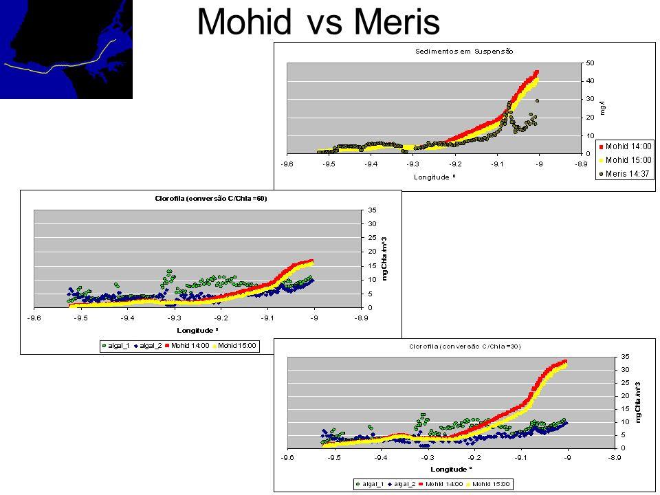 Mohid vs Meris vs In Situ
