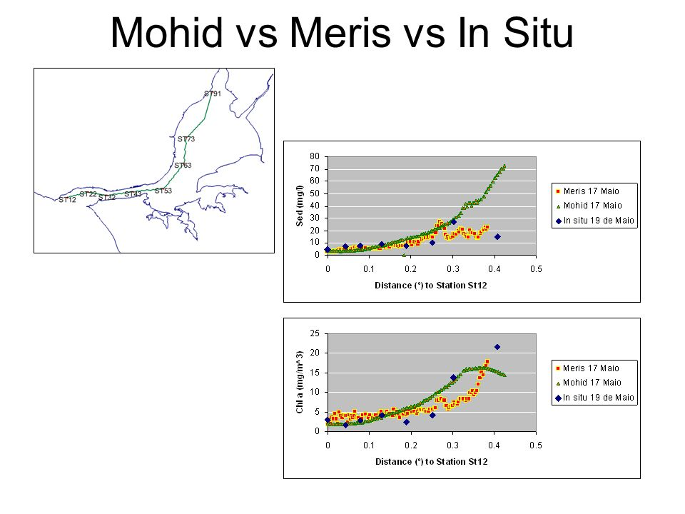 Mohid vs Meris vs In Situ