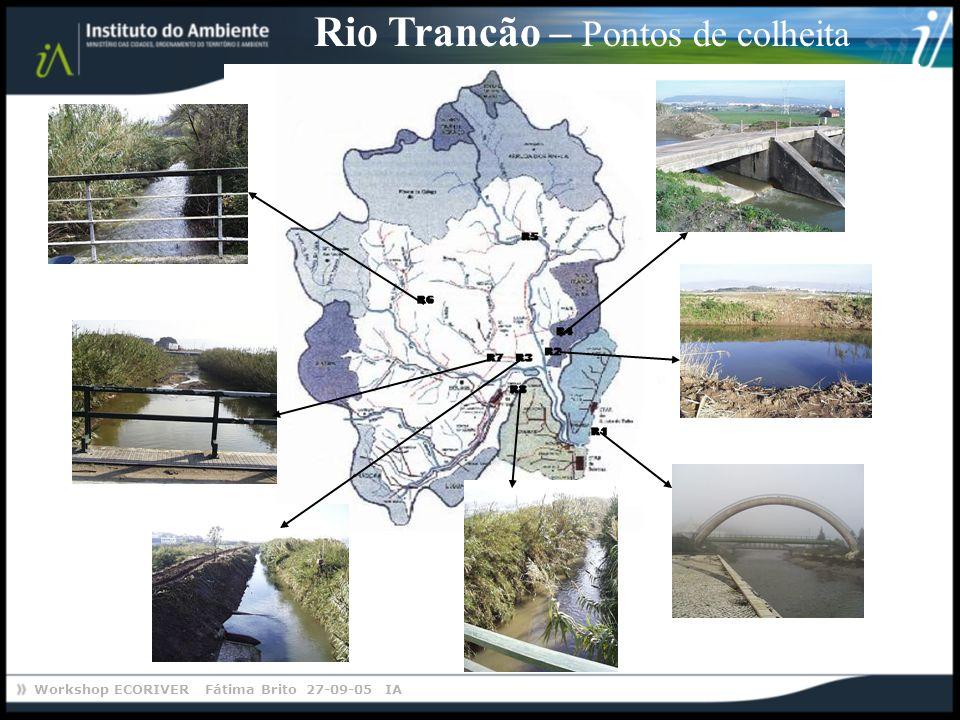 Workshop ECORIVER Fátima Brito 27-09-05 IA Rio Trancão – Pontos de colheita