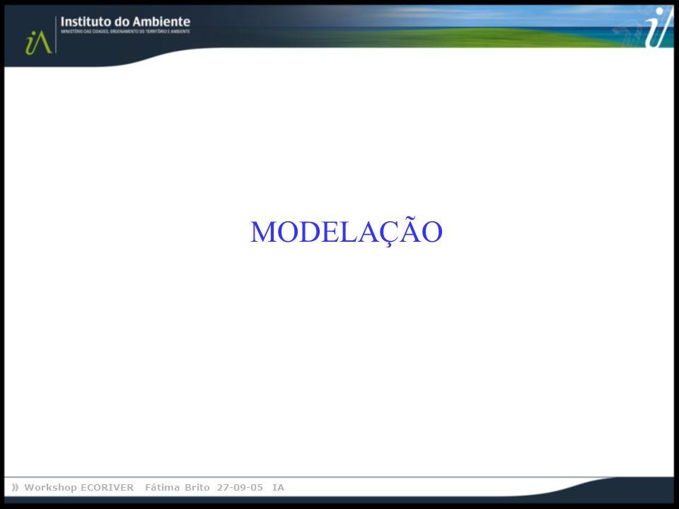 Workshop ECORIVER Fátima Brito 27-09-05 IA MODELAÇÃO
