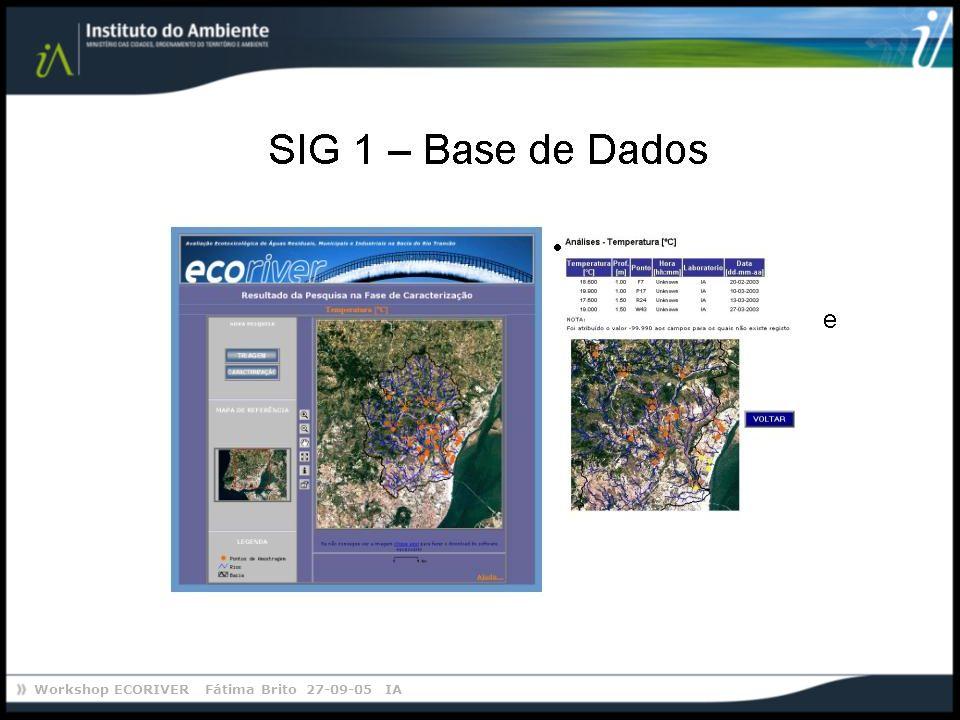 Workshop ECORIVER Fátima Brito 27-09-05 IA