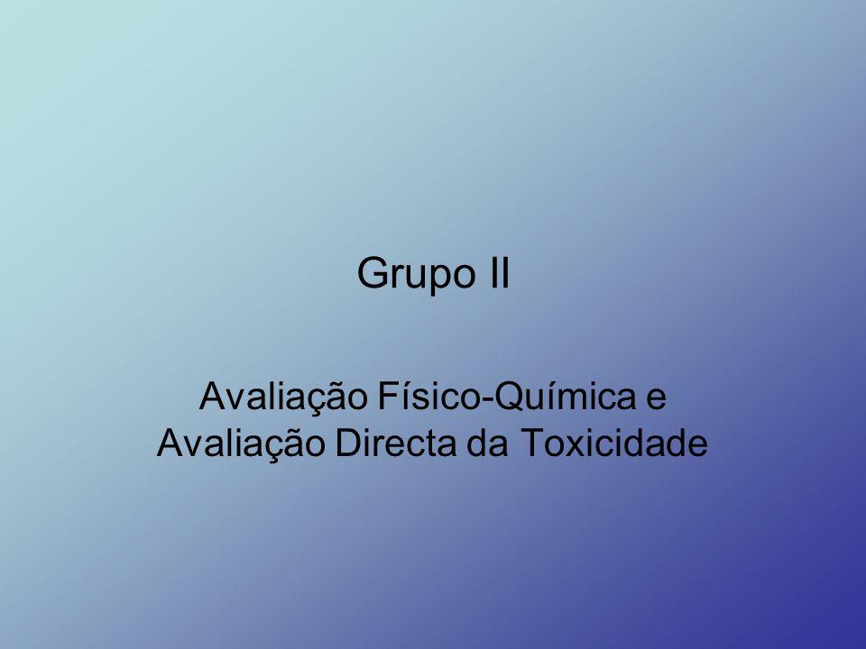 Grupo II Avaliação Físico-Química e Avaliação Directa da Toxicidade