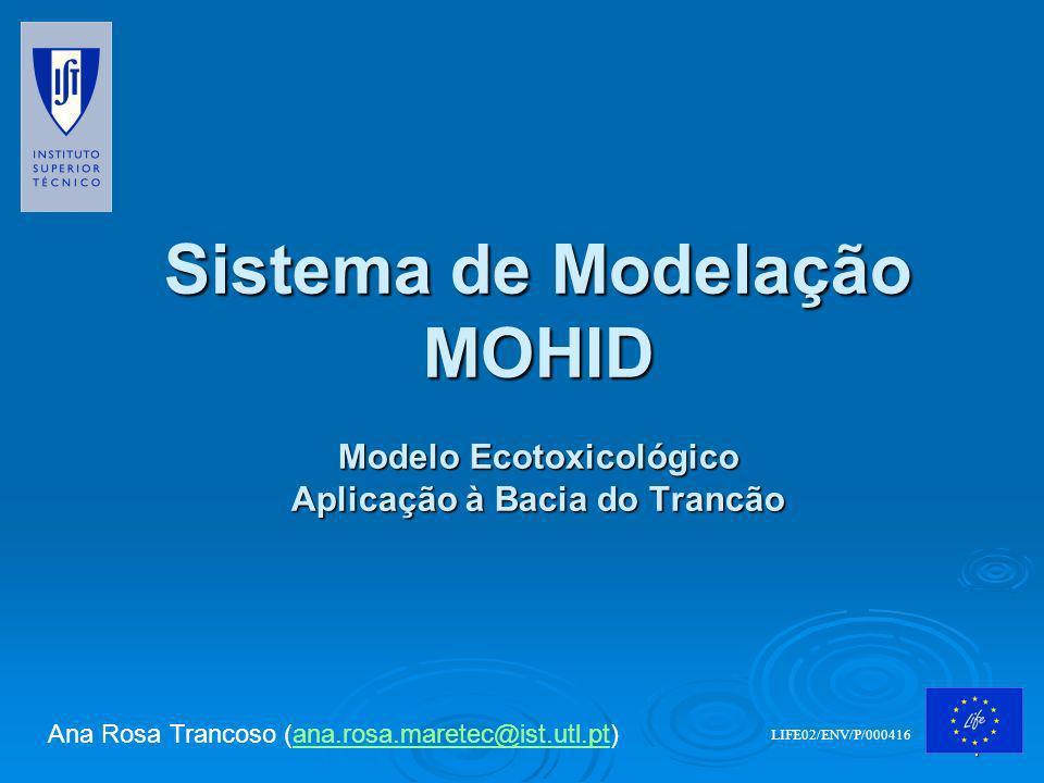2 Índice 1.SIG e base de dados 2.Modelação i.Sistema MOHID ii.Aplicação: Bacia do Trancão a)Hidrodinâmica b)Modelo Ecotoxicológico c)Trabalho em desenvolvimento