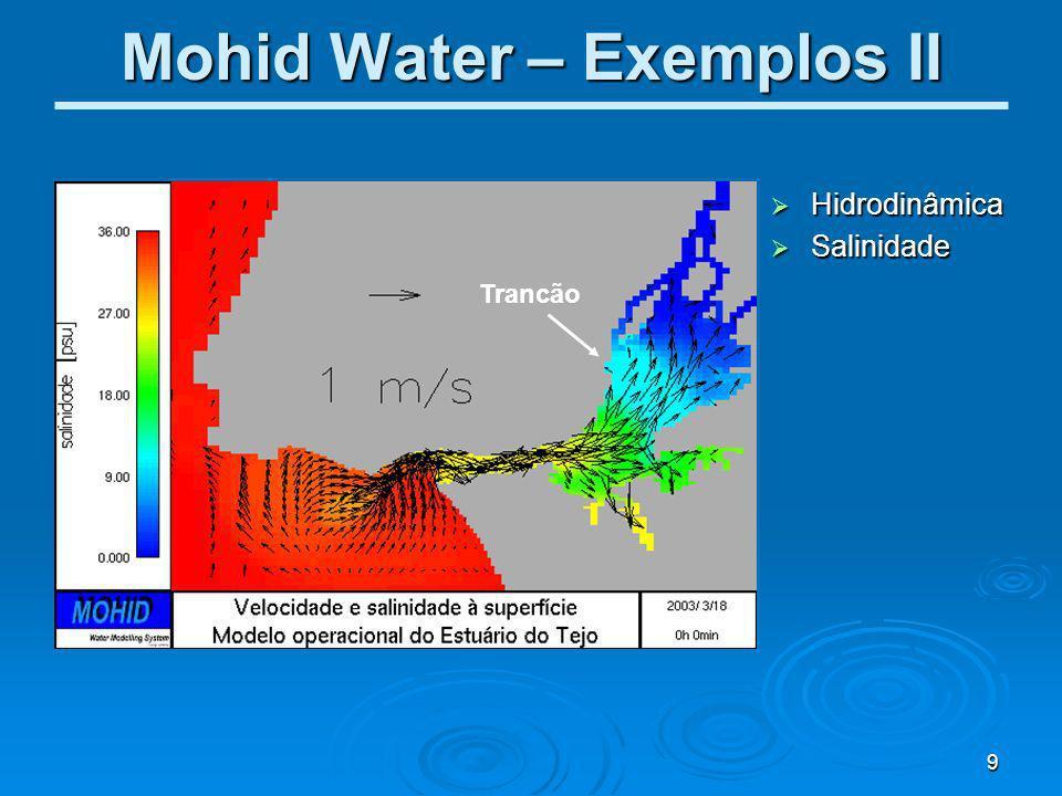 10 Mohid Water – Exemplos III Trancão Qualidade da Água Qualidade da Água Clorofila Clorofila