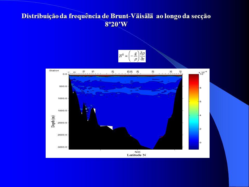 Distribuição da frequência de Brunt-Väisälä ao longo da secção 8º20W