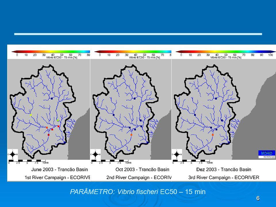 6 PARÂMETRO: Vibrio fischeri EC50 – 15 min