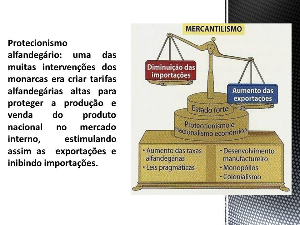 Protecionismo alfandegário: uma das muitas intervenções dos monarcas era criar tarifas alfandegárias altas para proteger a produção e venda do produto