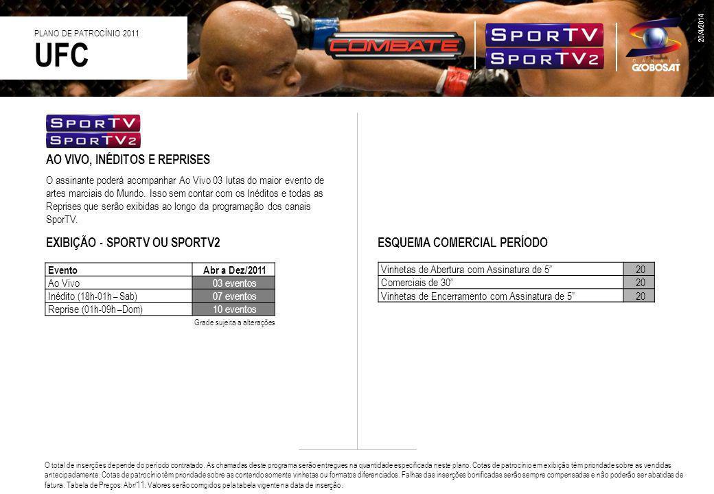 AO VIVO E REPRISES O canal Combate preparou uma cobertura especial do UFC 2011.