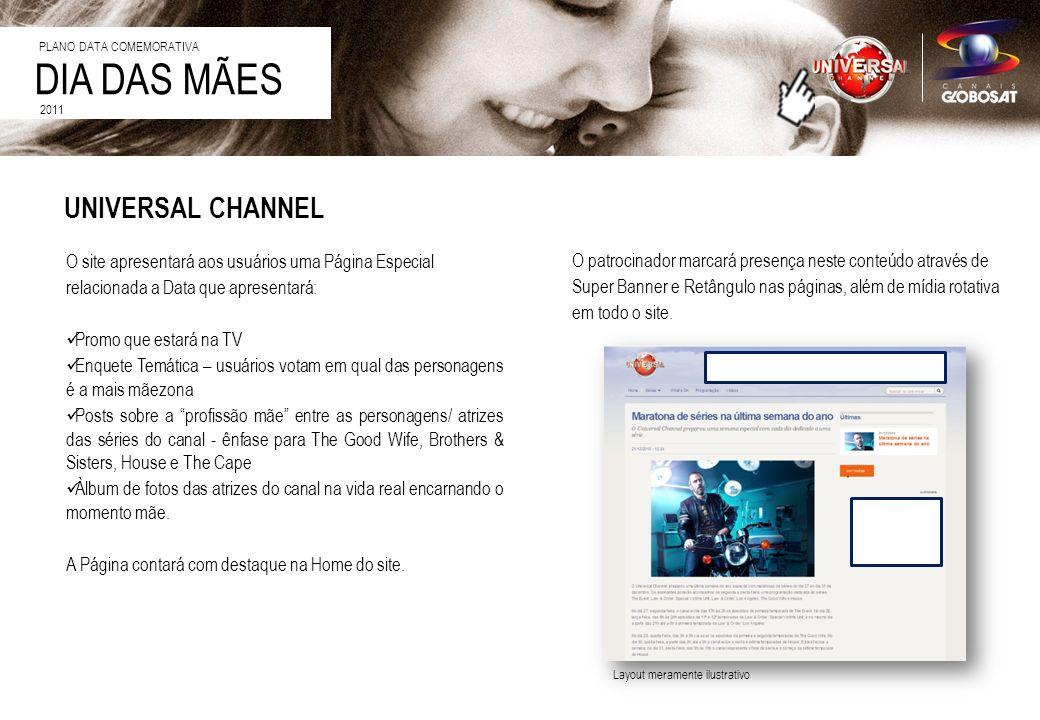 DIA DAS MÃES 2011 O site apresentará aos usuários uma Página Especial relacionada a Data que apresentará: Promo que estará na TV Enquete Temática – us