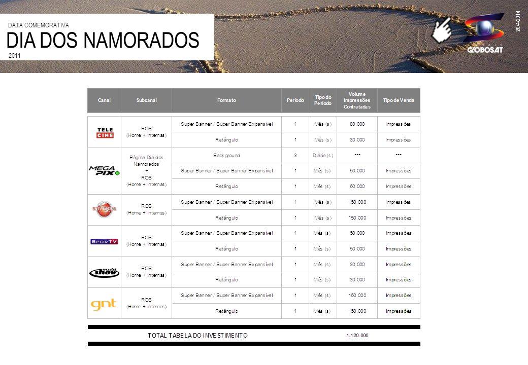 20/4/2014 2011 DIA DOS NAMORADOS DATA COMEMORATIVA