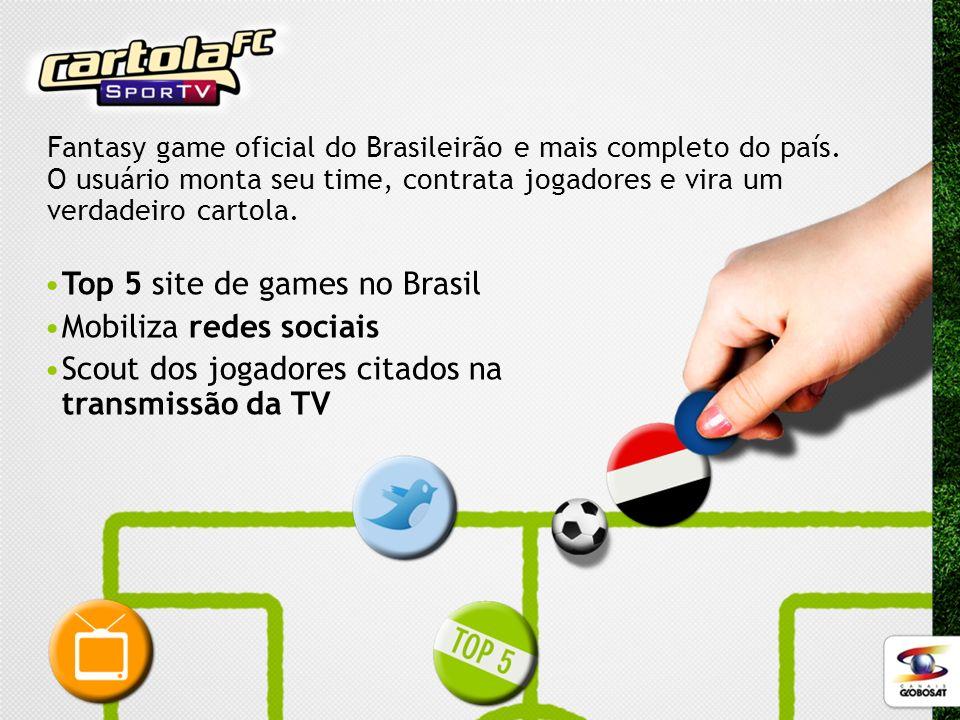 Top 5 site de games no Brasil Mobiliza redes sociais Scout dos jogadores citados na transmissão da TV Fantasy game oficial do Brasileirão e mais compl