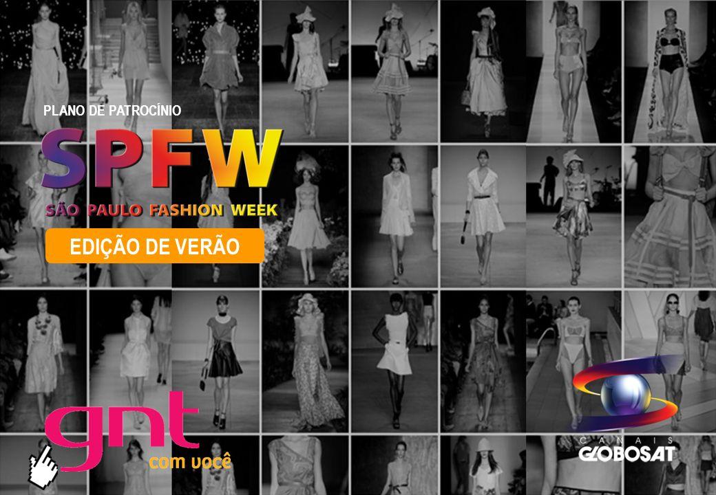 SPFW 2011 PLANO DE PATROCÍNIO 20/4/2014 Este grande evento de Moda merece uma divulgação integrada com a internet, e nada como estar presente no site que aborda o Estilo através de ricas matérias e vídeos relacionados ao mundo da moda.