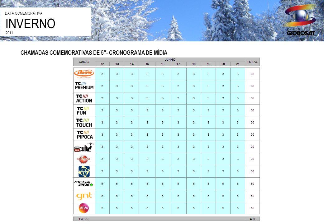 CHAMADAS COMEMORATIVAS DE 5- CRONOGRAMA DE MÍDIA INVERNO DATA COMEMORATIVA 2011