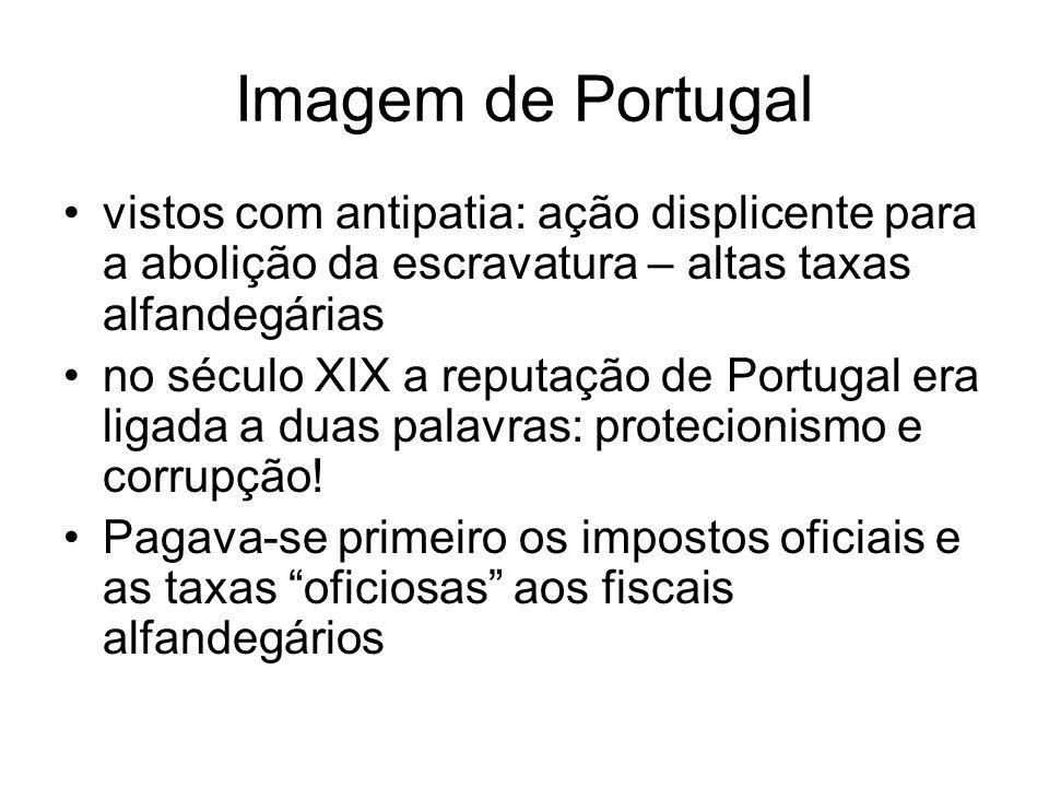 Imagem de Portugal vistos com antipatia: ação displicente para a abolição da escravatura – altas taxas alfandegárias no século XIX a reputação de Port