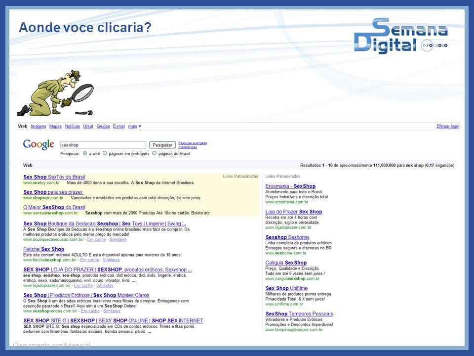 Aonde voce clicaria? Documento confidencial