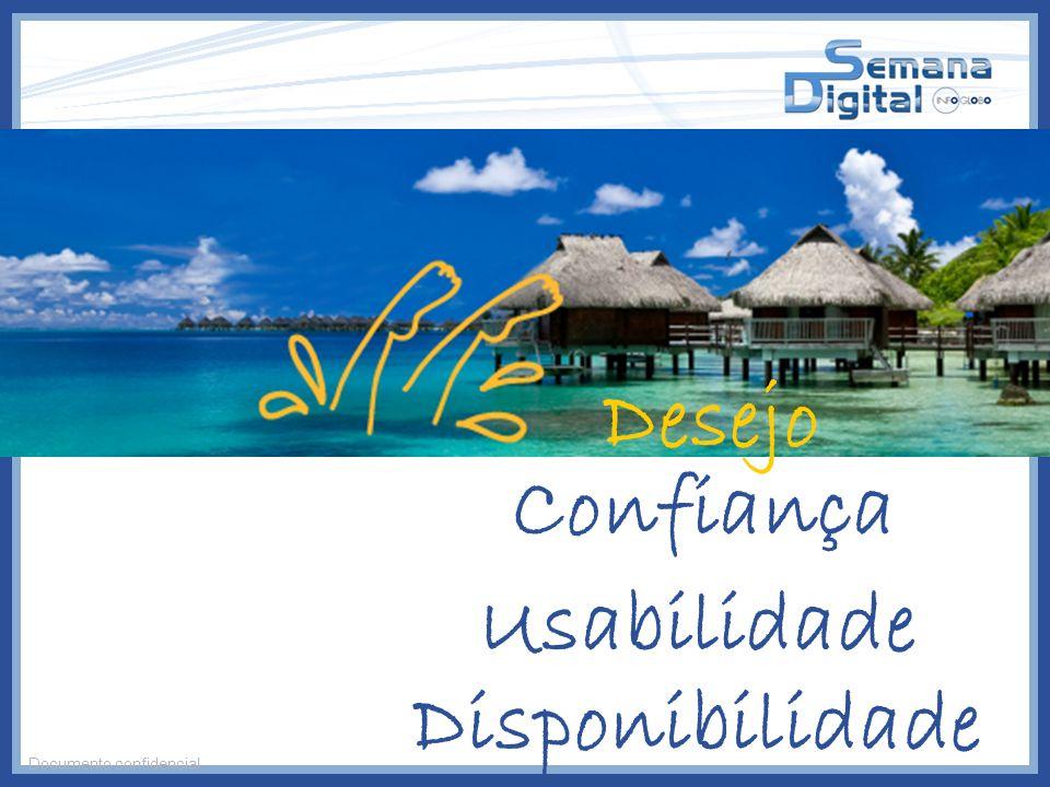 Disponibilidade Usabilidade Confiança Desejo Documento confidencial