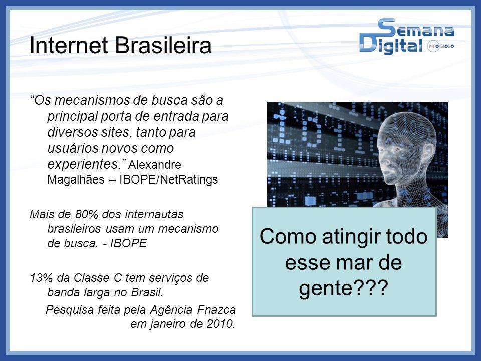 Internet Brasileira Os mecanismos de busca são a principal porta de entrada para diversos sites, tanto para usuários novos como experientes. Alexandre