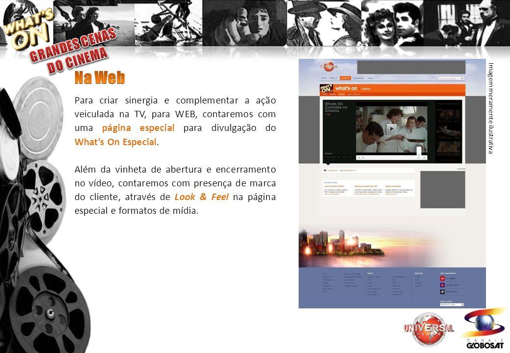 Para criar sinergia e complementar a ação veiculada na TV, para WEB, contaremos com uma página especial para divulgação do Whats On Especial.