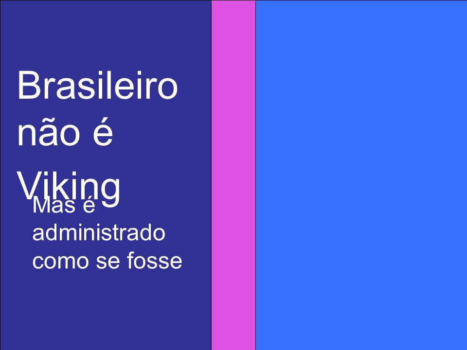 Conseqüências: Falta harmonia entre as técnicas administrativas e a natureza da população A desarmonia se traduz em ineficiência crônica Desperdiça a produtividade da mão de obra Reduz a lucratividade das empresas Sacrifica a competitividade internacional das empresas no Brasil Brasileiro não é Viking Mas é administrado como se fosse
