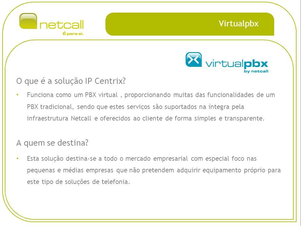 Virtualpbx O que é a solução IP Centrix.