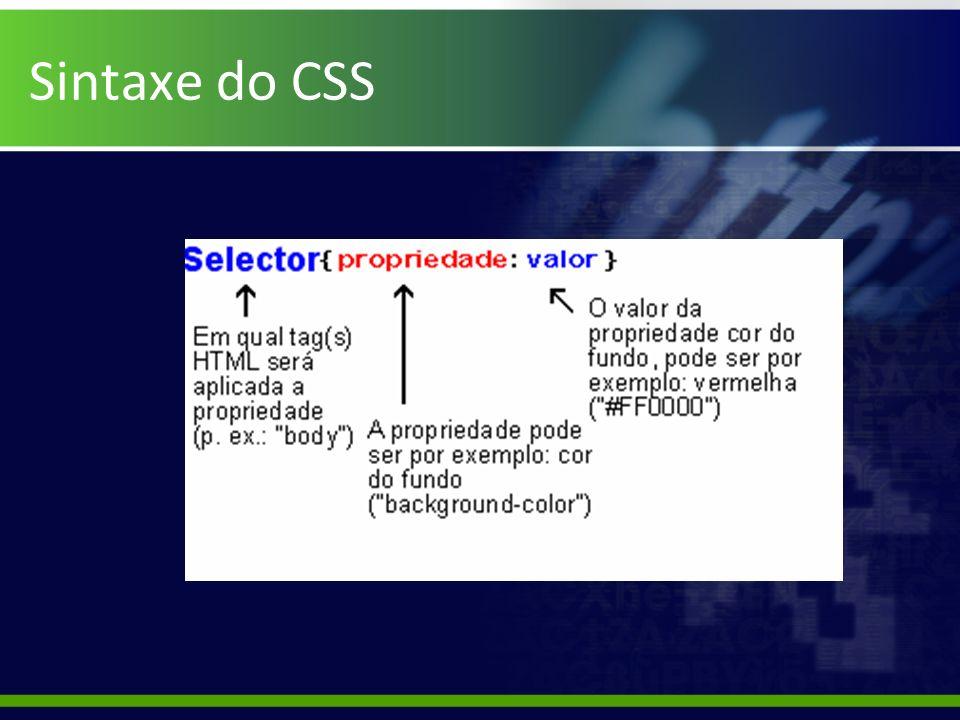 Sintaxe do CSS