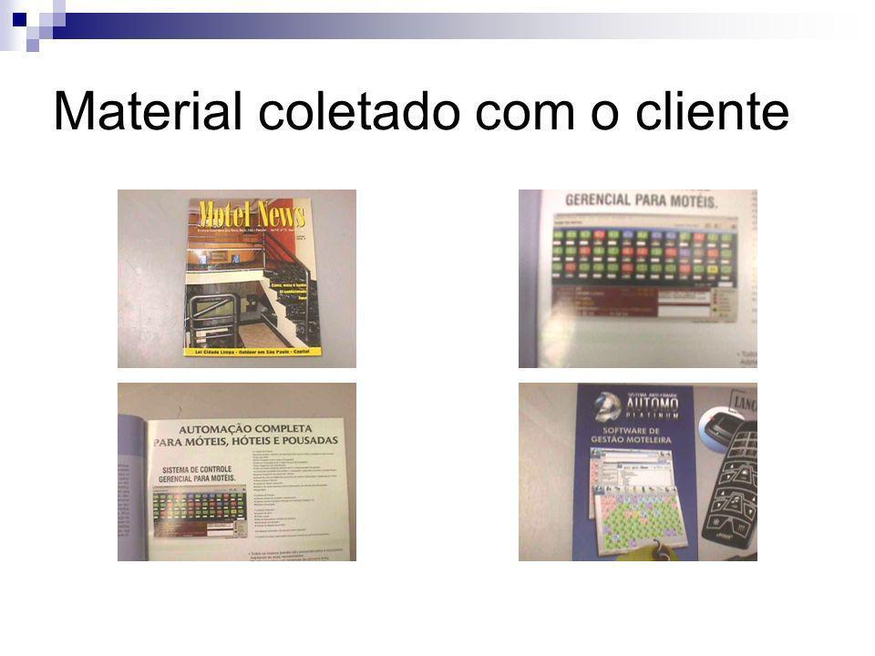 Material coletado com o cliente