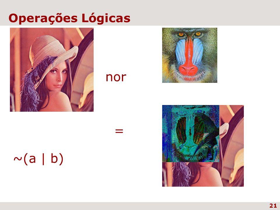 21 Operações Lógicas nor = ~(a   b)