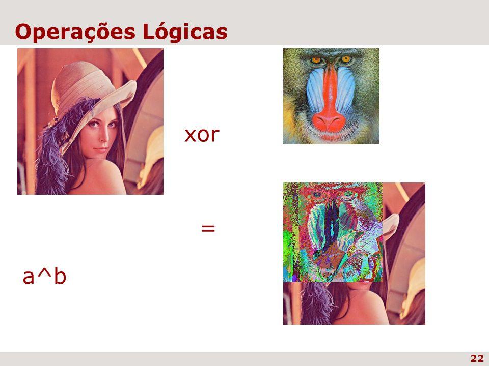 22 Operações Lógicas xor = a^b
