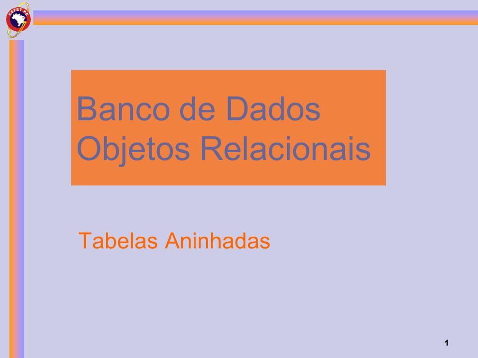 1 Banco de Dados Objetos Relacionais Tabelas Aninhadas