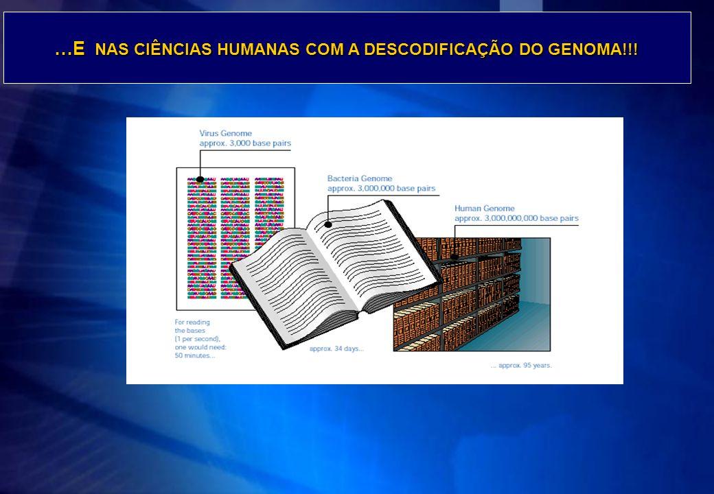 Faça clique para …E NAS CIÊNCIAS HUMANAS COM A DESCODIFICAÇÃO DO GENOMA!!!