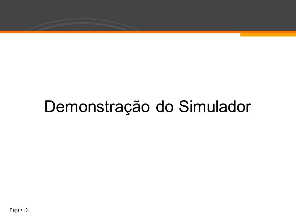 Page 18 Demonstração do Simulador