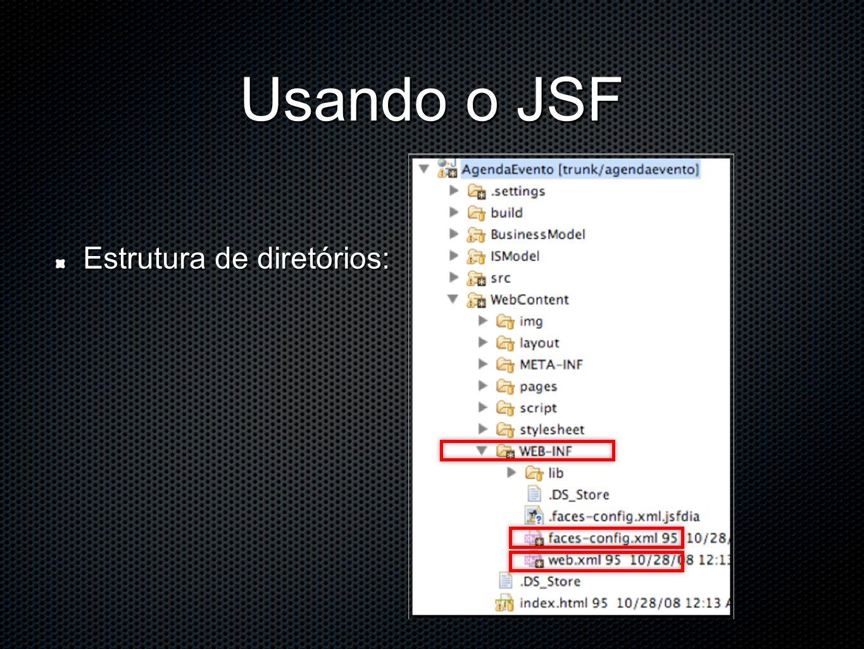 Usando o JSF Estrutura de diretórios: