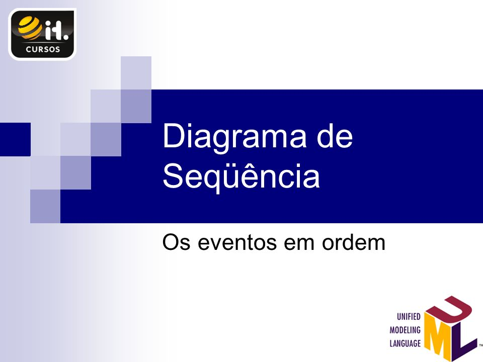 Diagrama de Seqüência Os eventos em ordem
