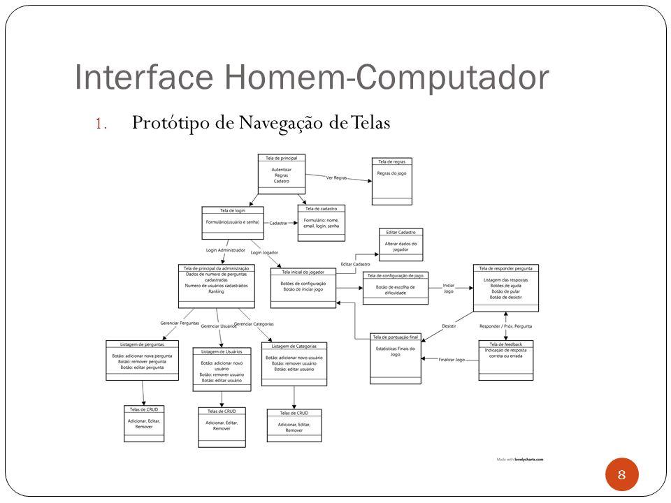 Interface Homem-Computador 1. Protótipo de Navegação de Telas 8